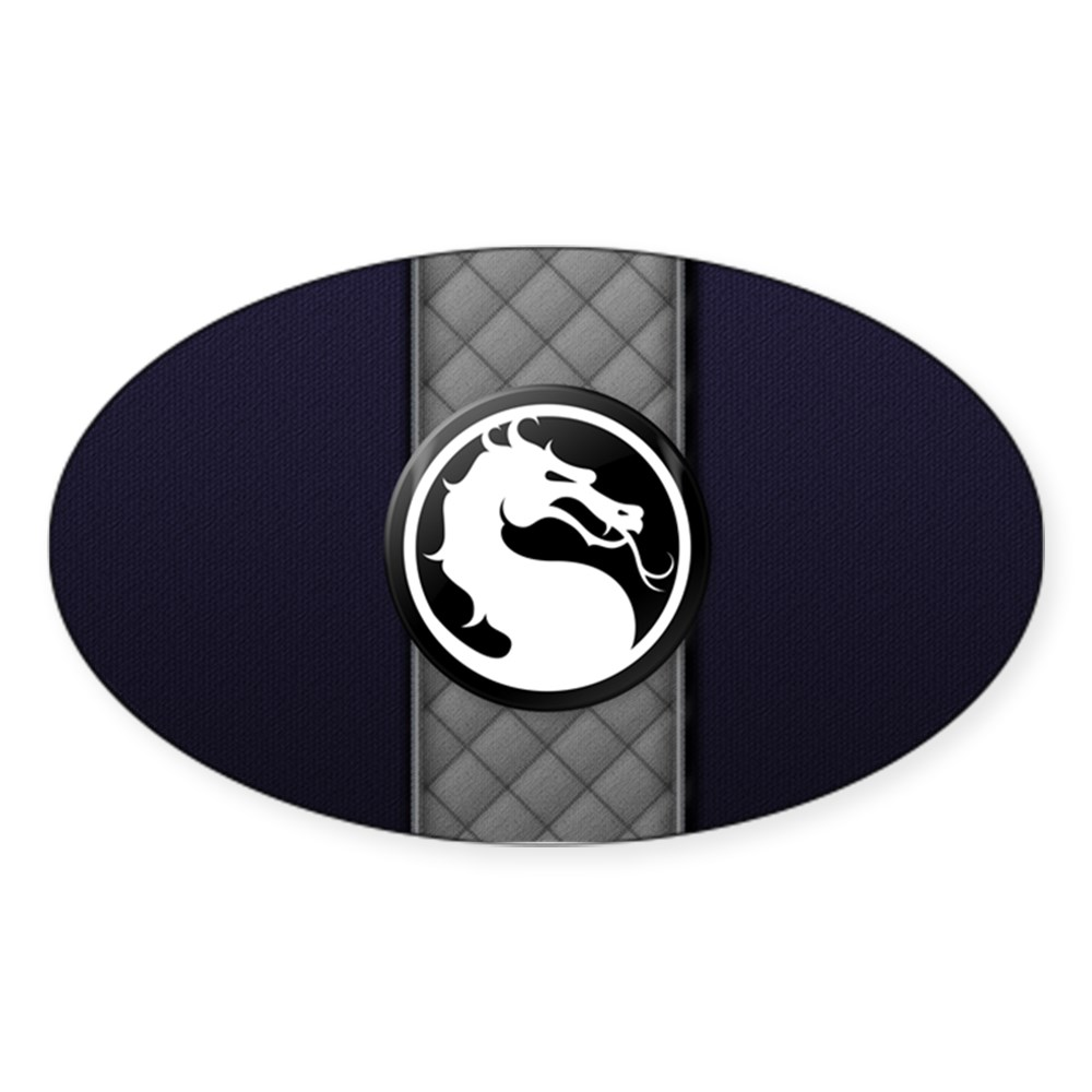 Mortal Kombat Logo - Smoke Klassic Oval Sticker