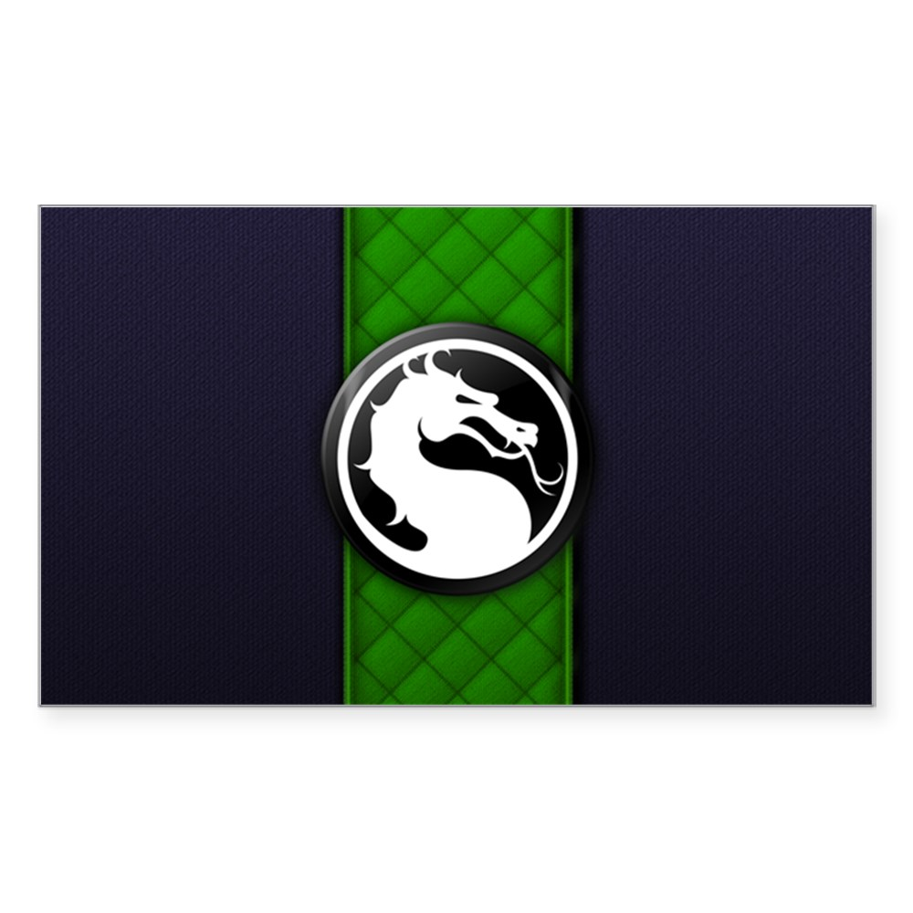 Mortal Kombat Logo - Reptile Klassic Rectangle Sticker