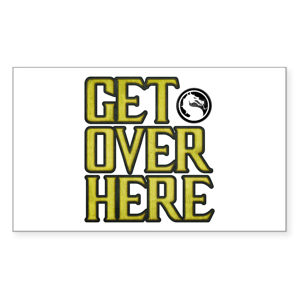 Get Over Here Rectangle Sticker