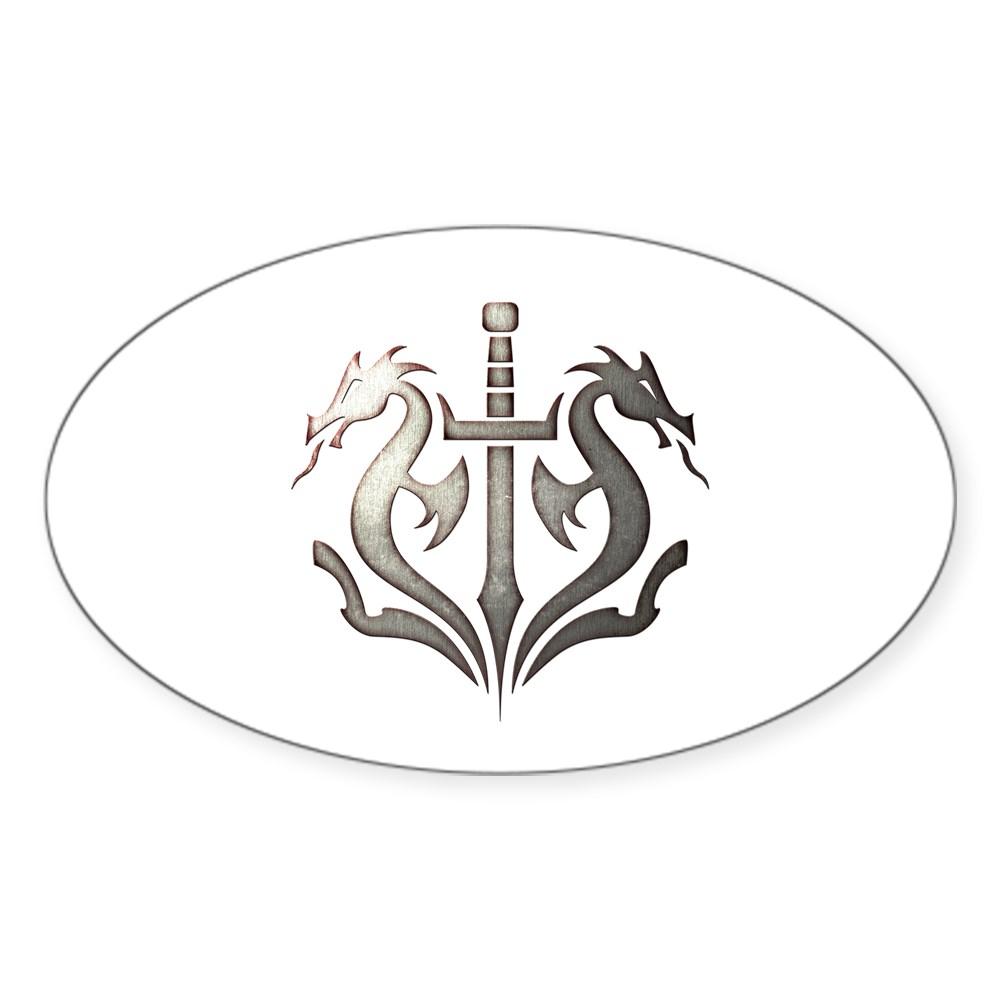 MKX Faction Black Dragon Oval Sticker