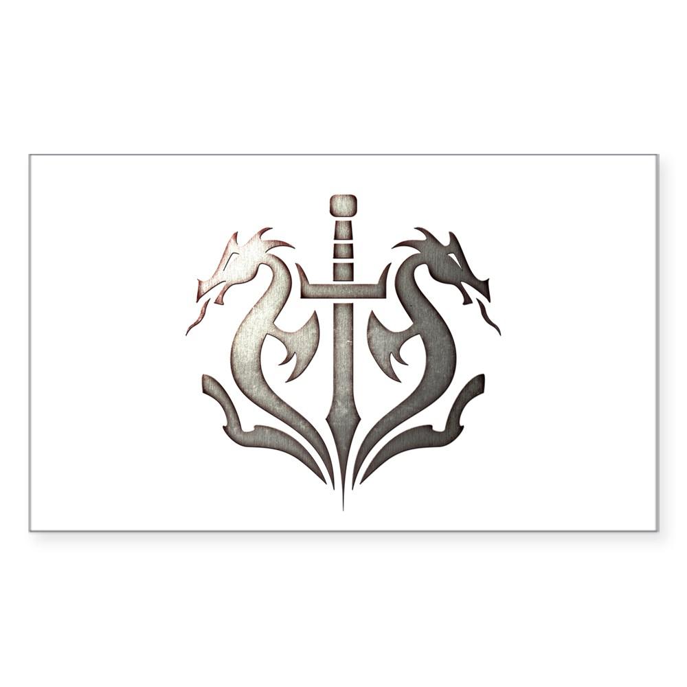 MKX Faction Black Dragon Rectangle Sticker