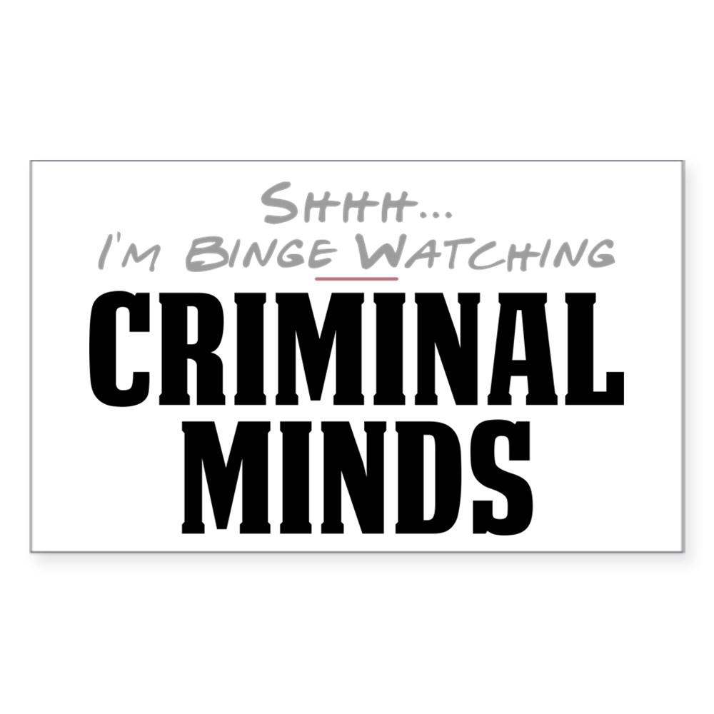 Shhh... I'm Binge Watching Criminal Minds Rectangle Sticker