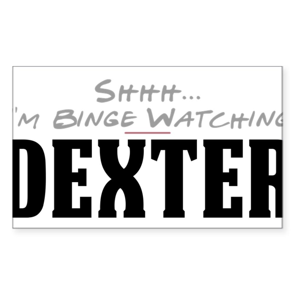 Shhh... I'm Binge Watching Dexter Rectangle Sticker