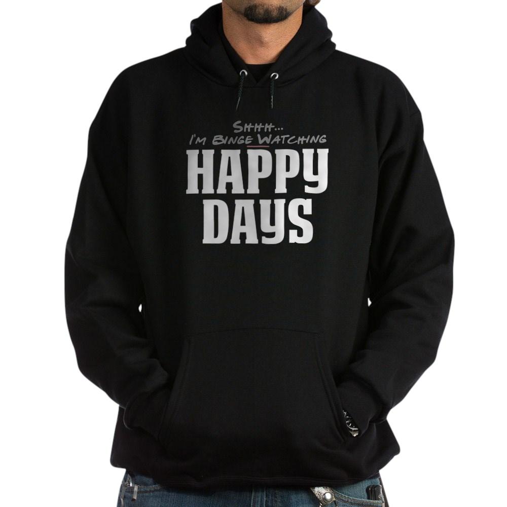 Shhh... I'm Binge Watching Happy Days Dark Hoodie