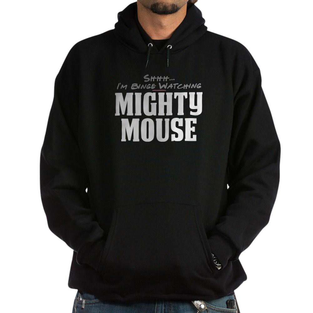 Shhh... I'm Binge Watching Mighty Mouse Dark Hoodie