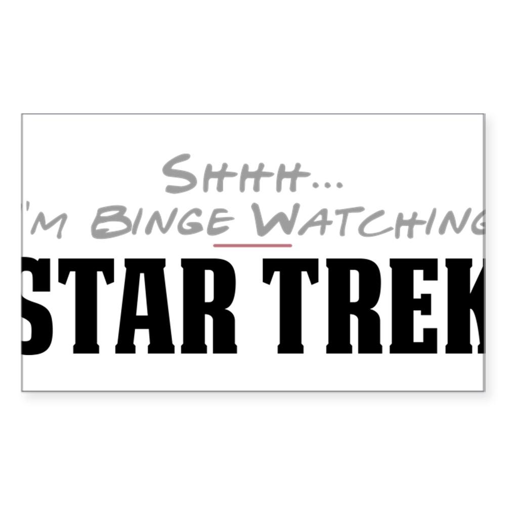 Shhh... I'm Binge Watching Star Trek Rectangle Sticker