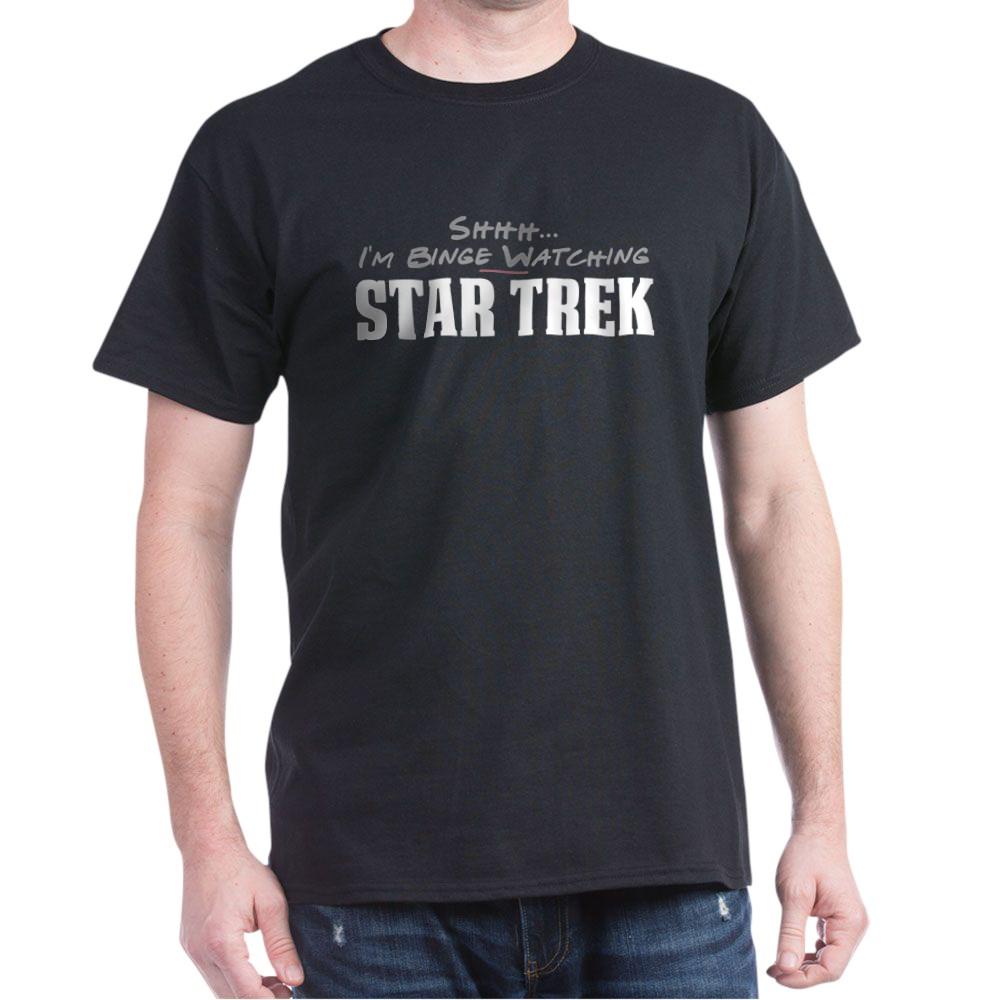 Shhh... I'm Binge Watching Star Trek Dark T-Shirt