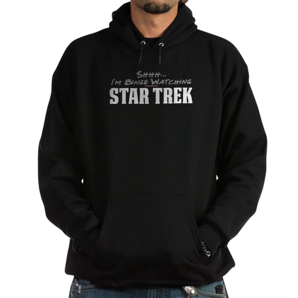 Shhh... I'm Binge Watching Star Trek Dark Hoodie