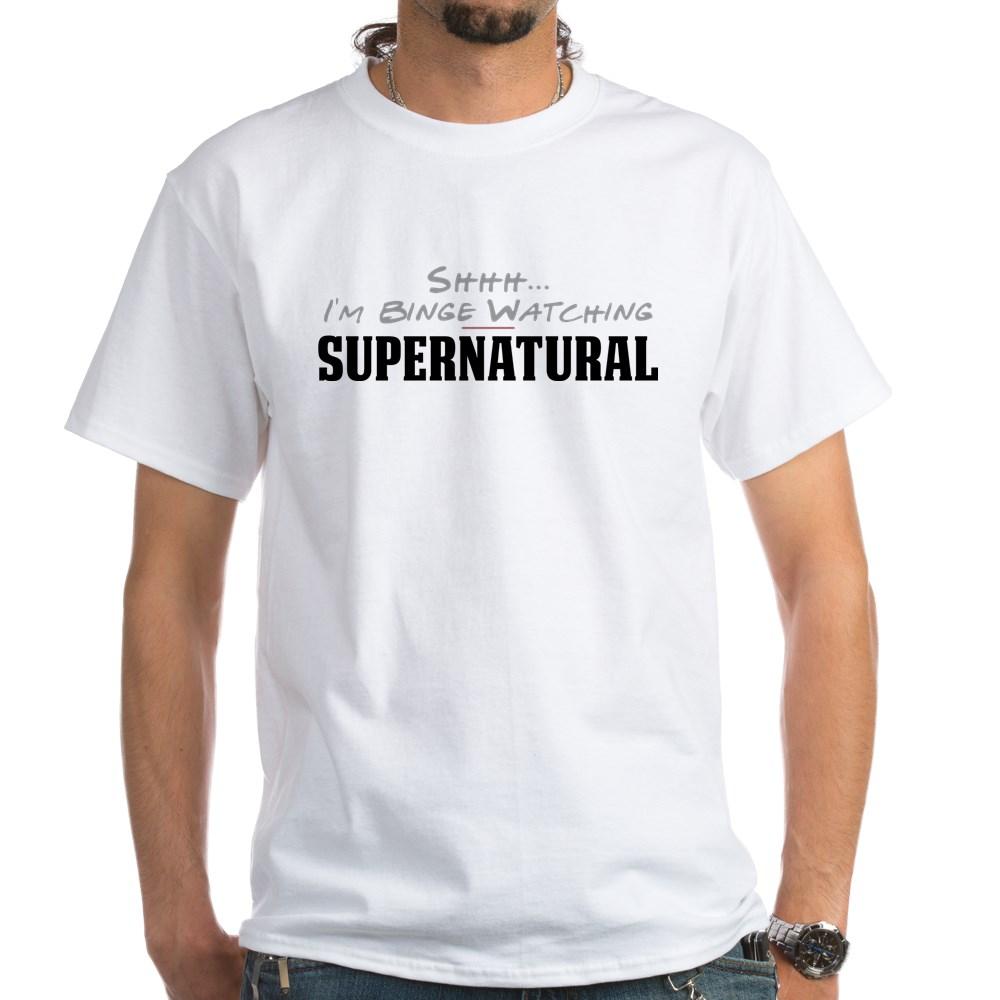 Shhh... I'm Binge Watching Supernatural White T-Shirt