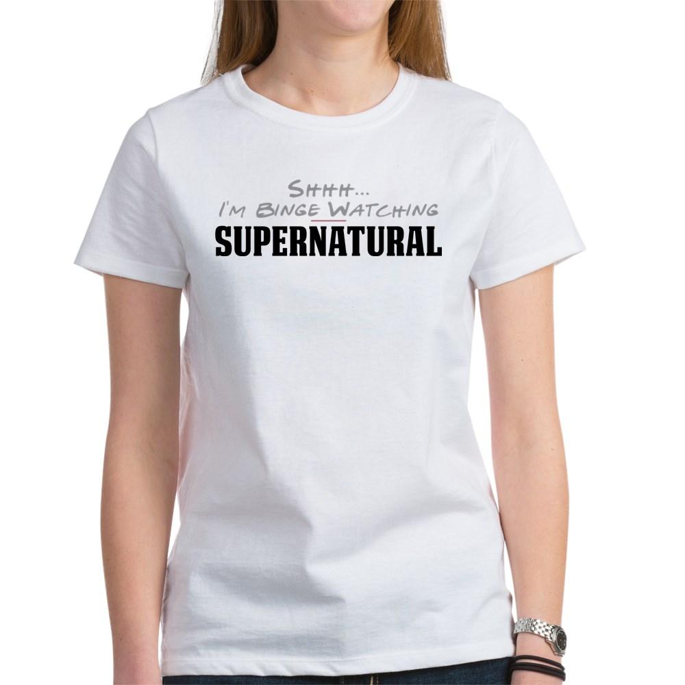 Shhh... I'm Binge Watching Supernatural Women's T-Shirt