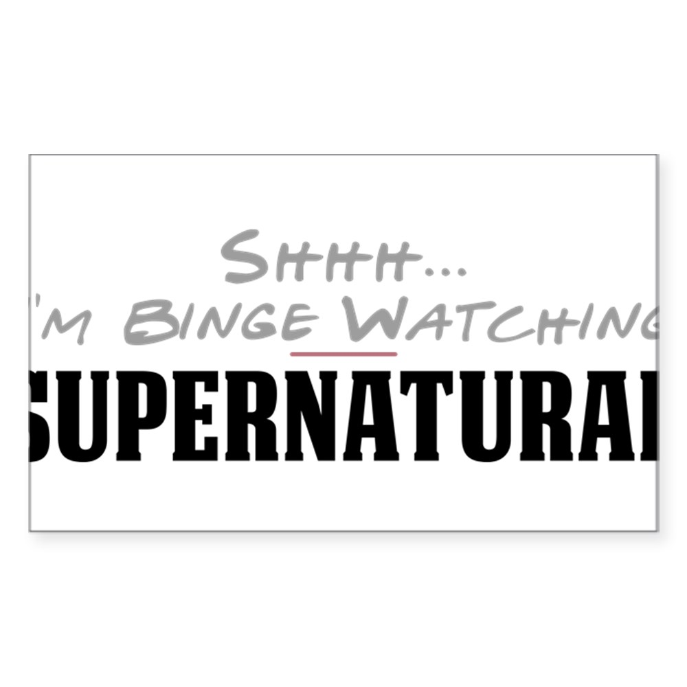 Shhh... I'm Binge Watching Supernatural Rectangle Sticker