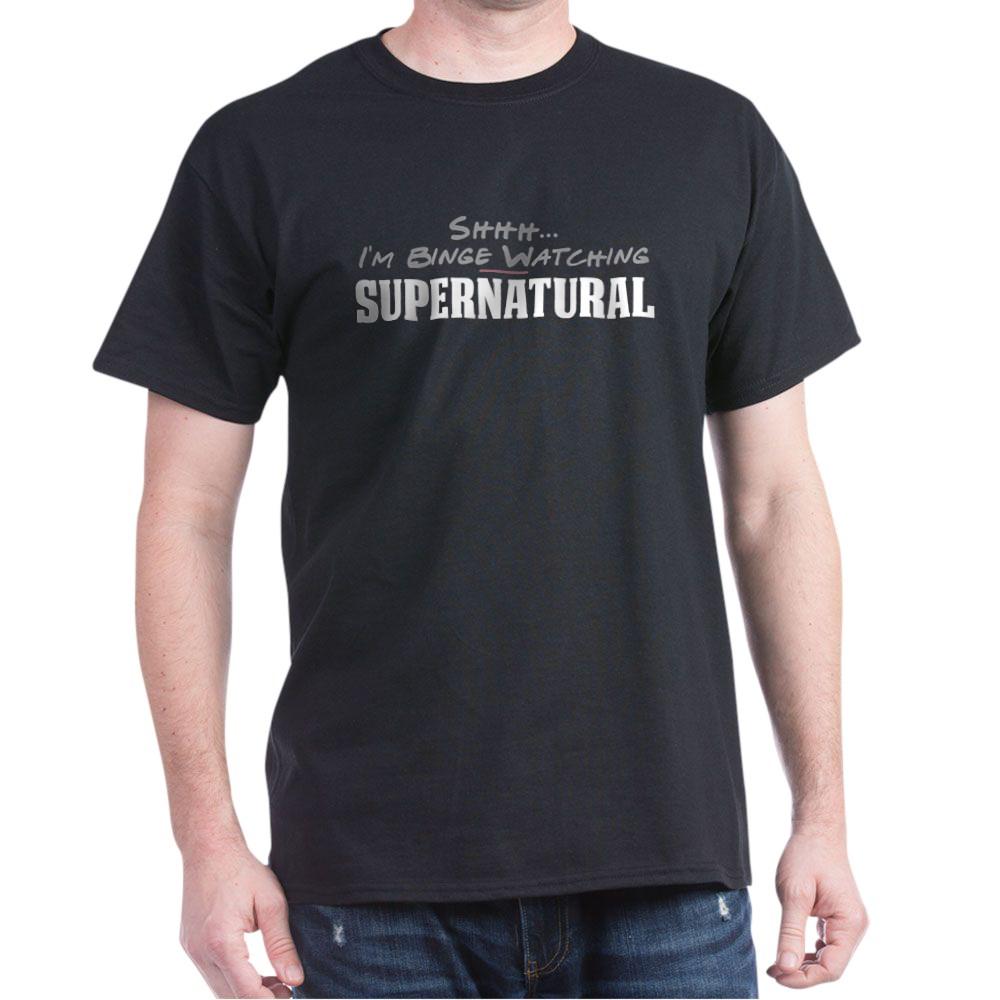 Shhh... I'm Binge Watching Supernatural Dark T-Shirt