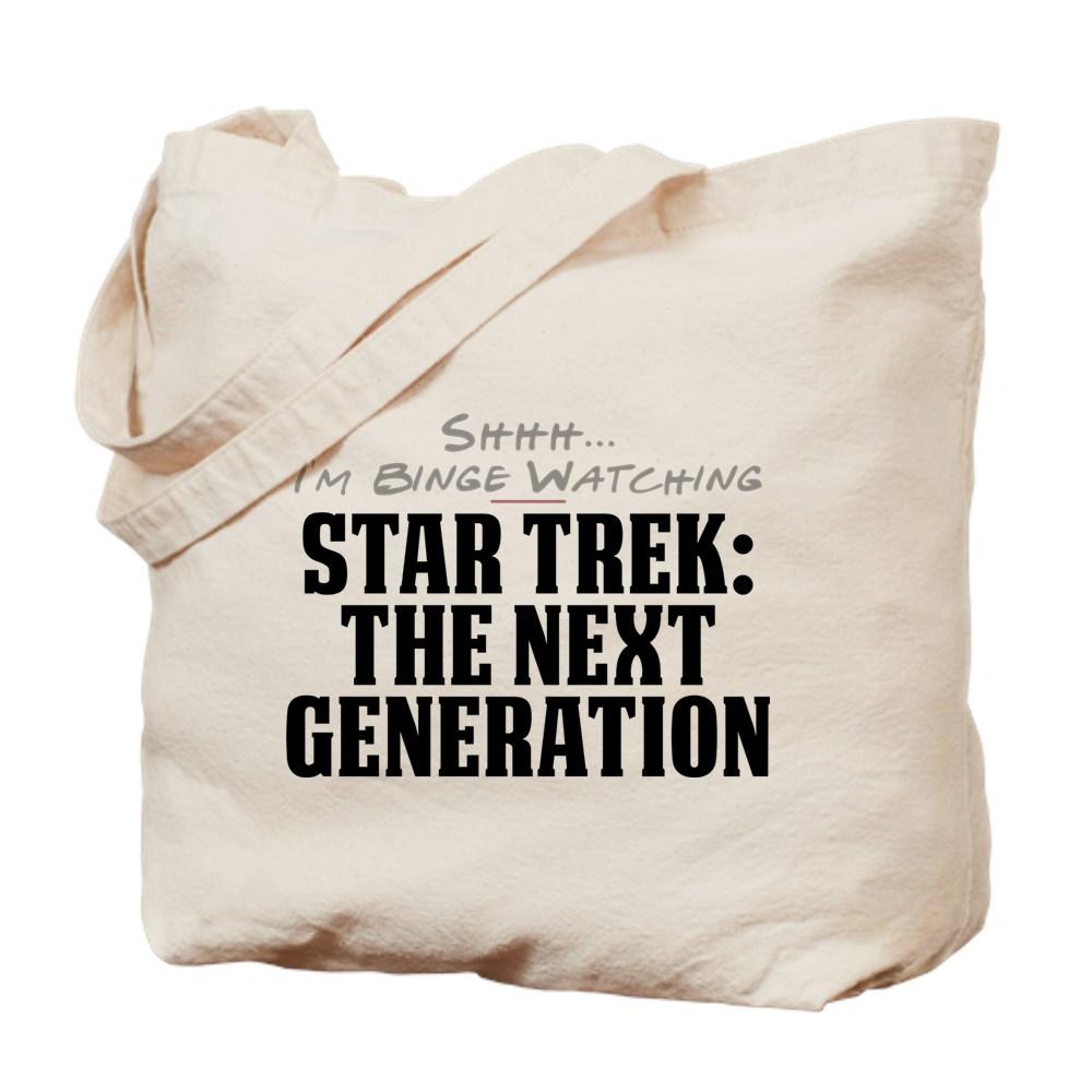 Shhh... I'm Binge Watching Star Trek: The Next Generation Tote Bag