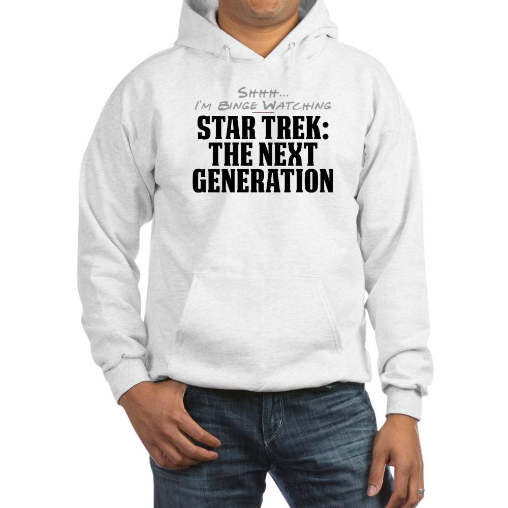 Shhh... I'm Binge Watching Star Trek: The Next Generation Hooded Sweatshirt