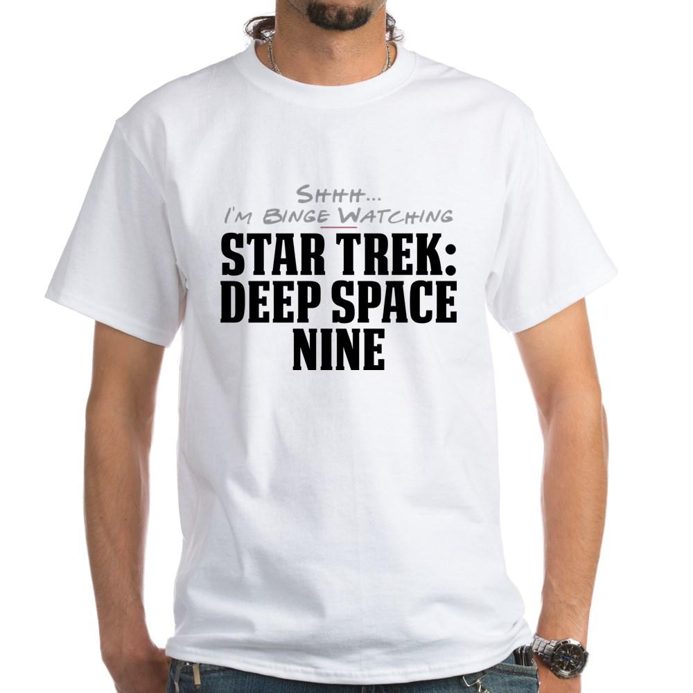 Shhh... I'm Binge Watching Star Trek: Deep Space Nine White T-Shirt