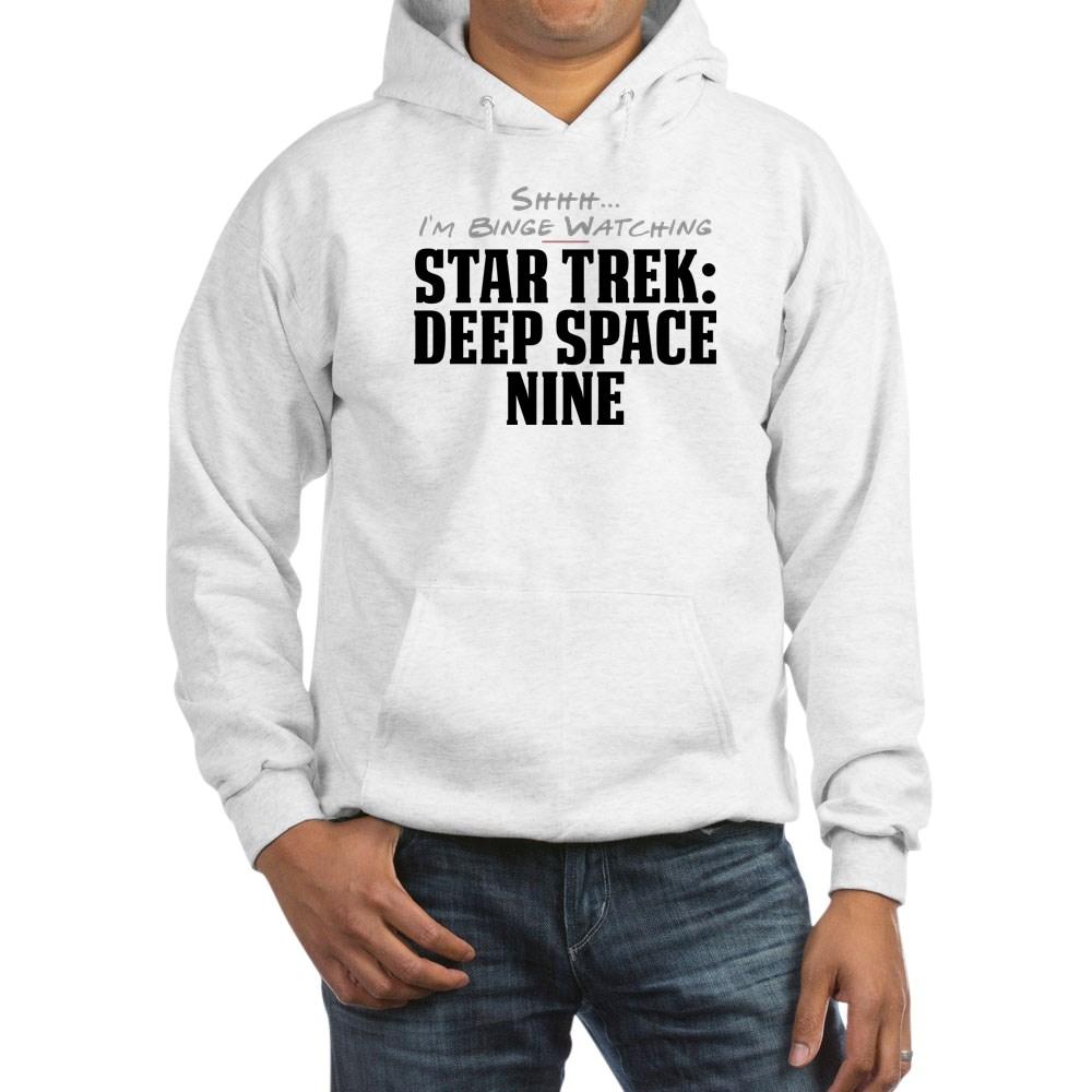 Shhh... I'm Binge Watching Star Trek: Deep Space Nine Hooded Sweatshirt