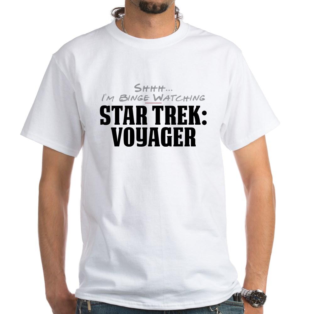 Shhh... I'm Binge Watching Star Trek: Voyager White T-Shirt