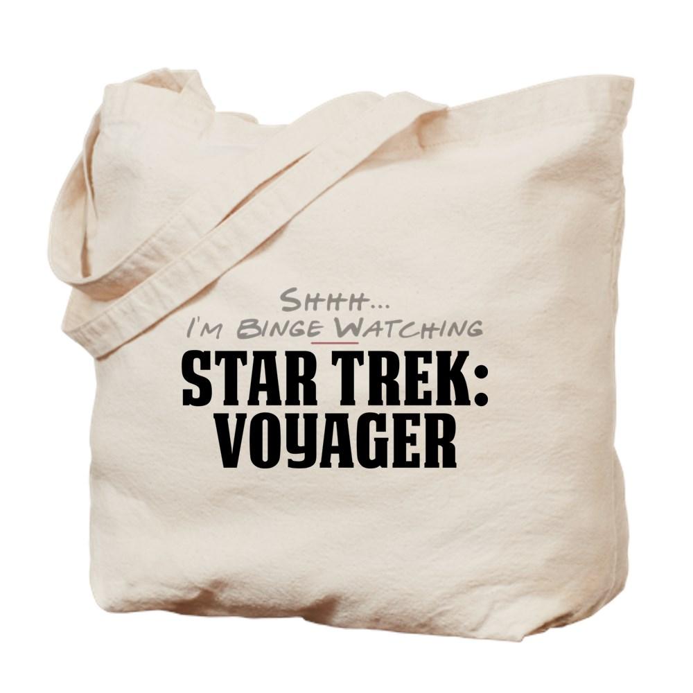 Shhh... I'm Binge Watching Star Trek: Voyager Tote Bag