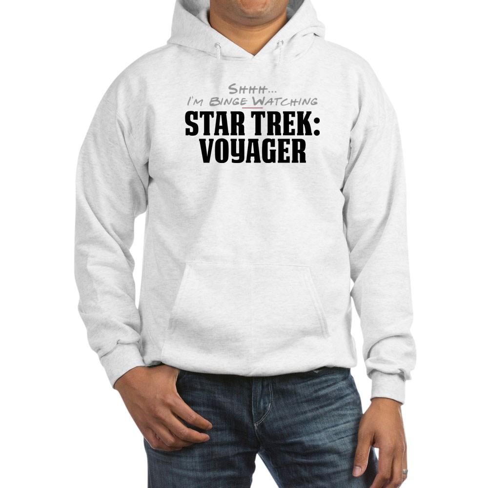 Shhh... I'm Binge Watching Star Trek: Voyager Hooded Sweatshirt