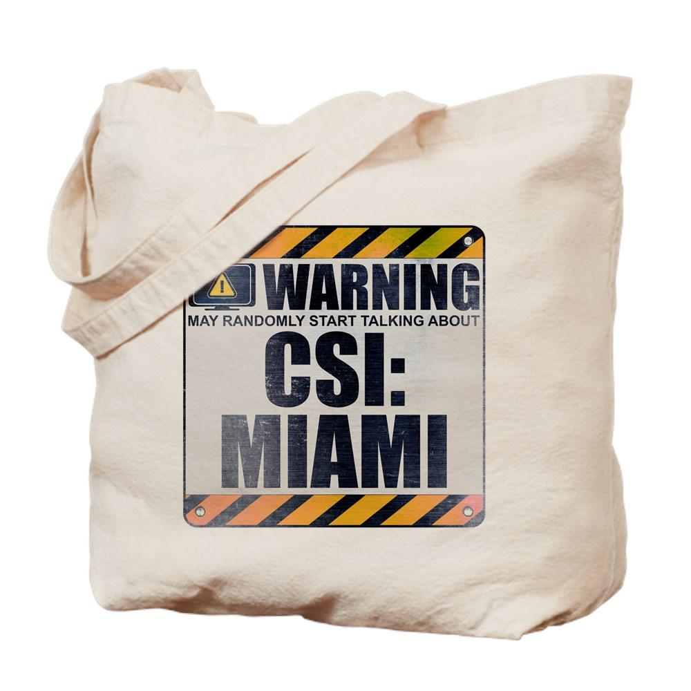 Warning: CSI: Miami Tote Bag