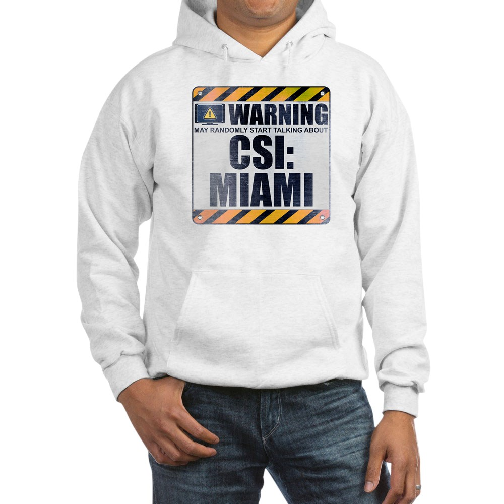 Warning: CSI: Miami Hooded Sweatshirt