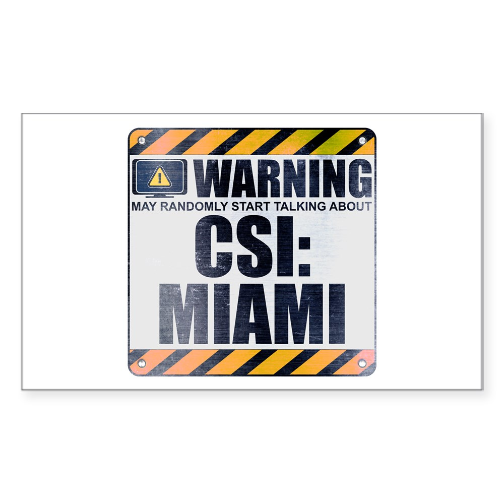 Warning: CSI: Miami Rectangle Sticker