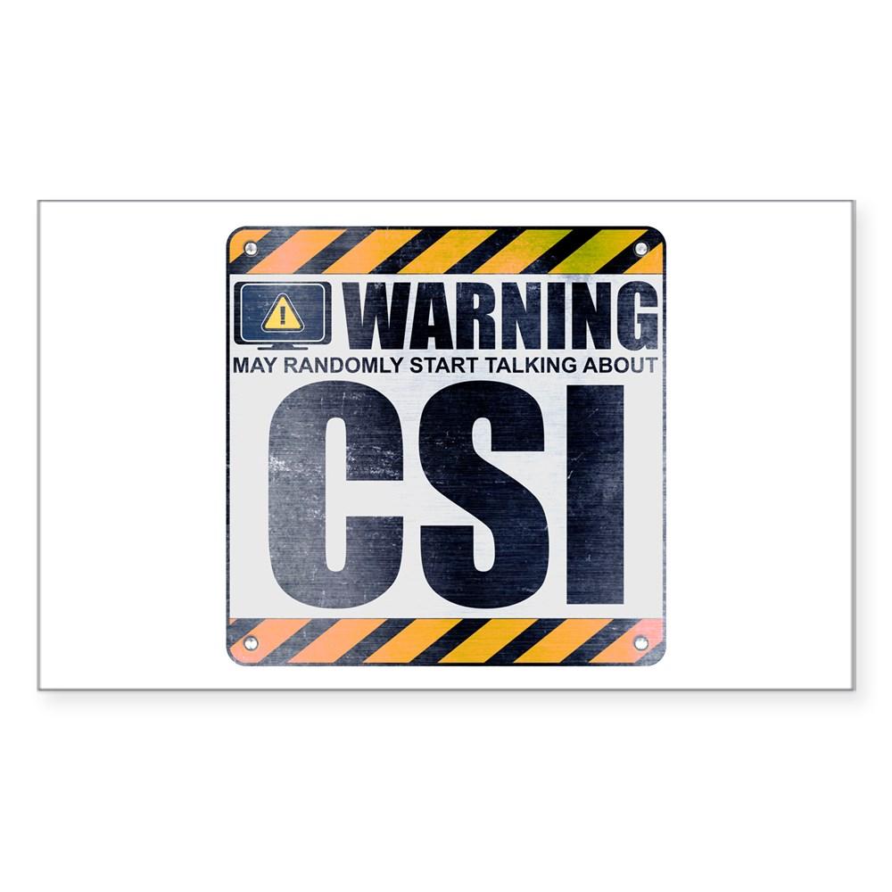 Warning: CSI Rectangle Sticker