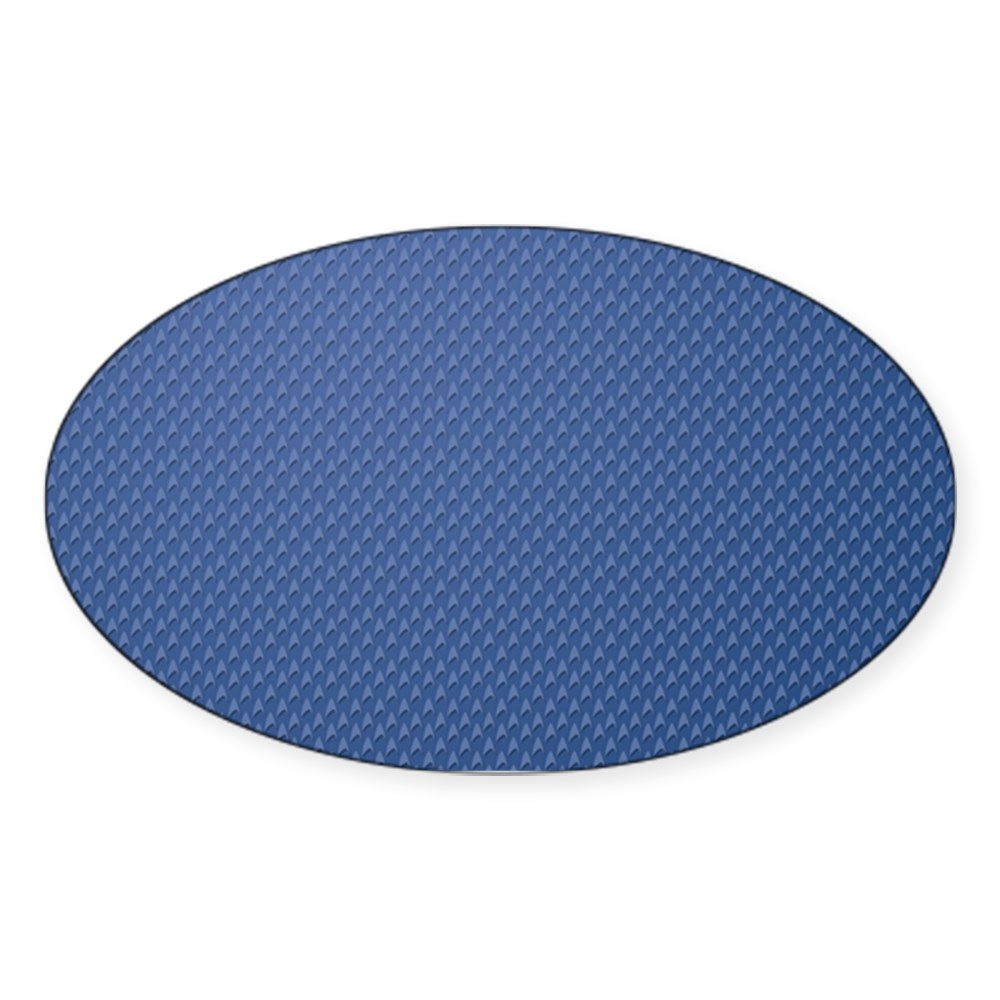 Star Trek: TOS Science Pattern Oval Sticker