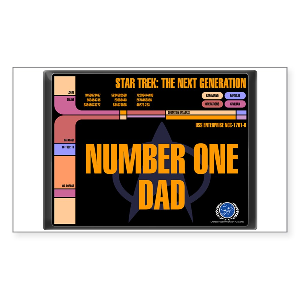 Number One Dad Rectangle Sticker