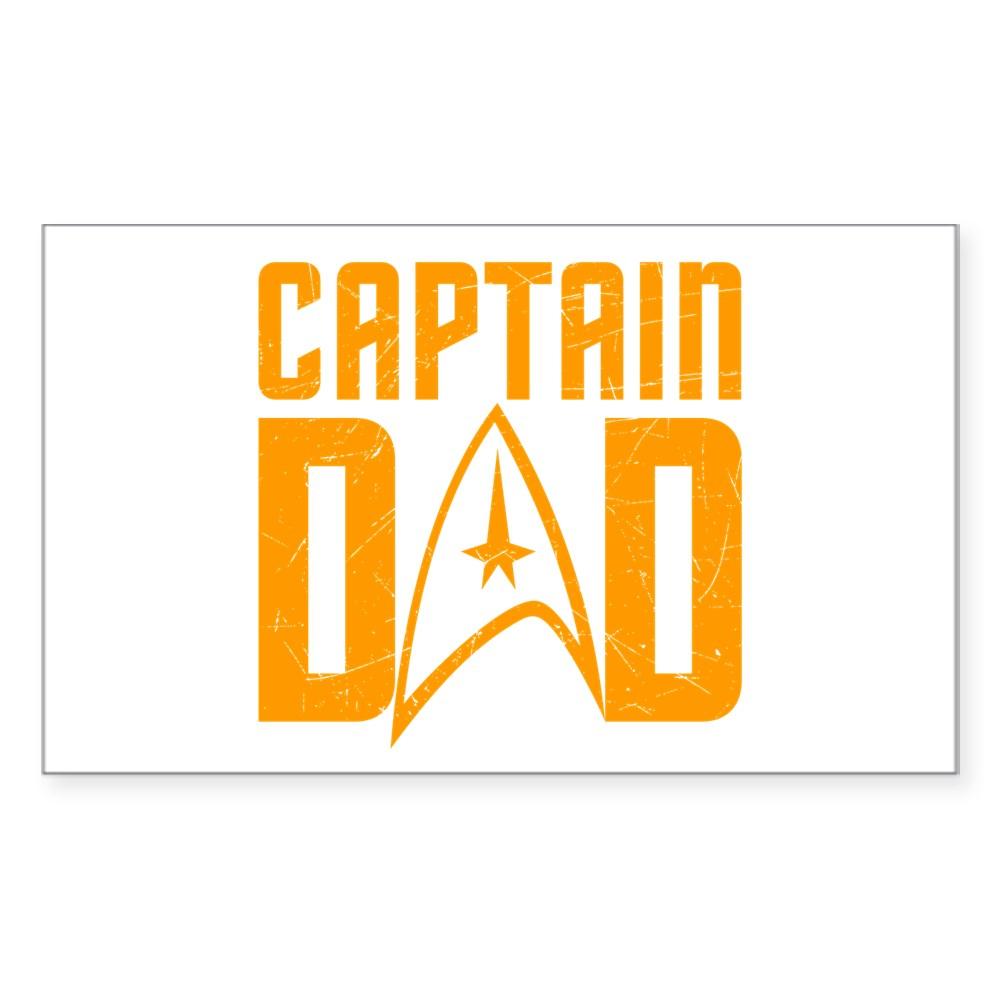 Captain Dad Rectangle Sticker