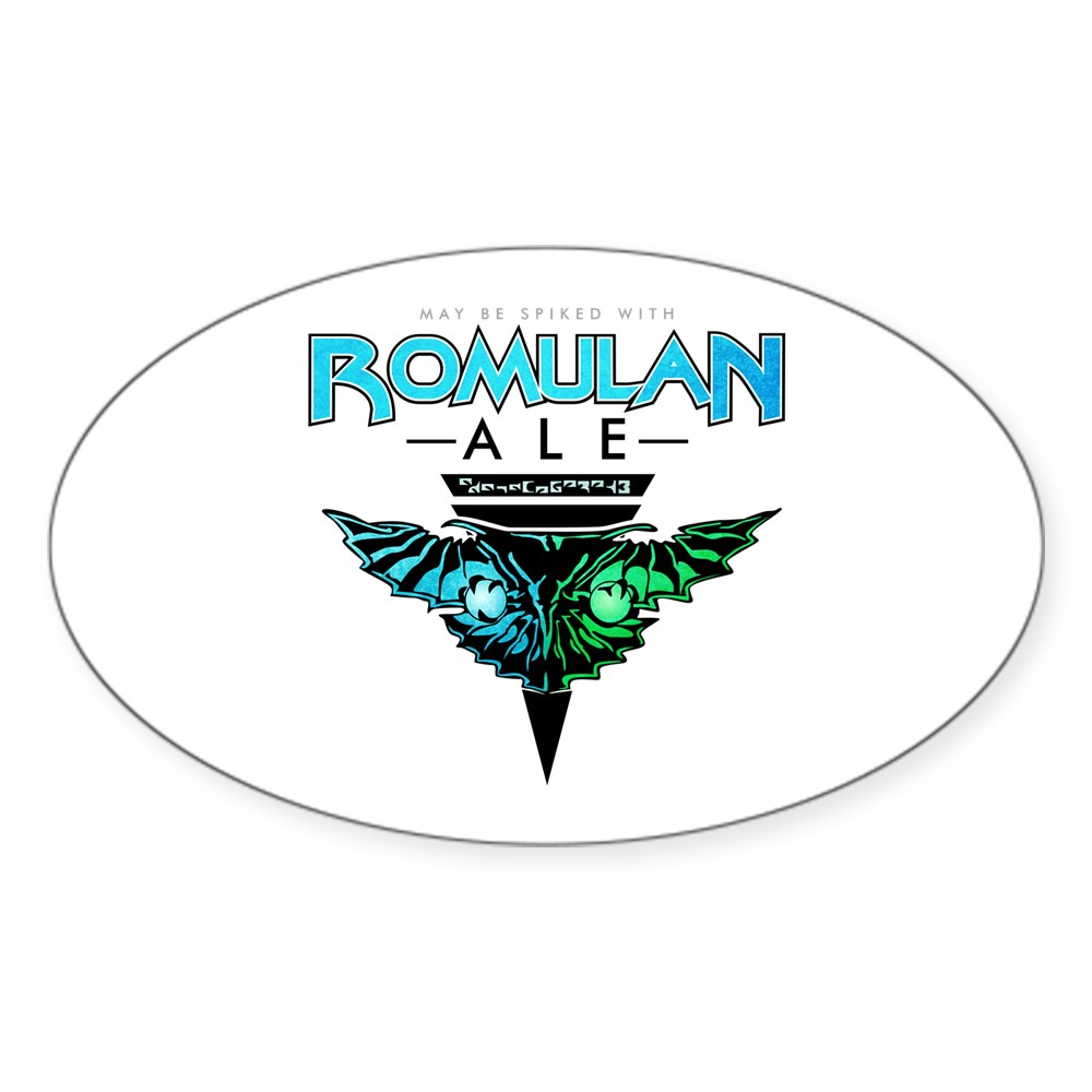 Romulan Ale Oval Sticker