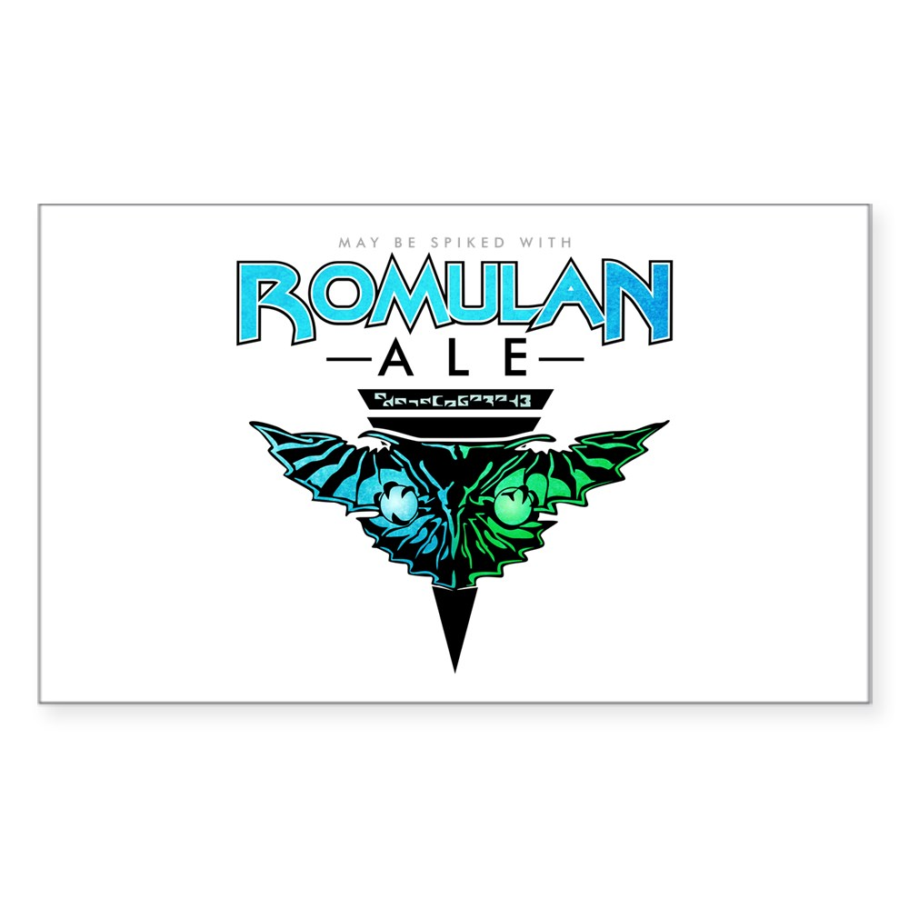 Romulan Ale Rectangle Sticker