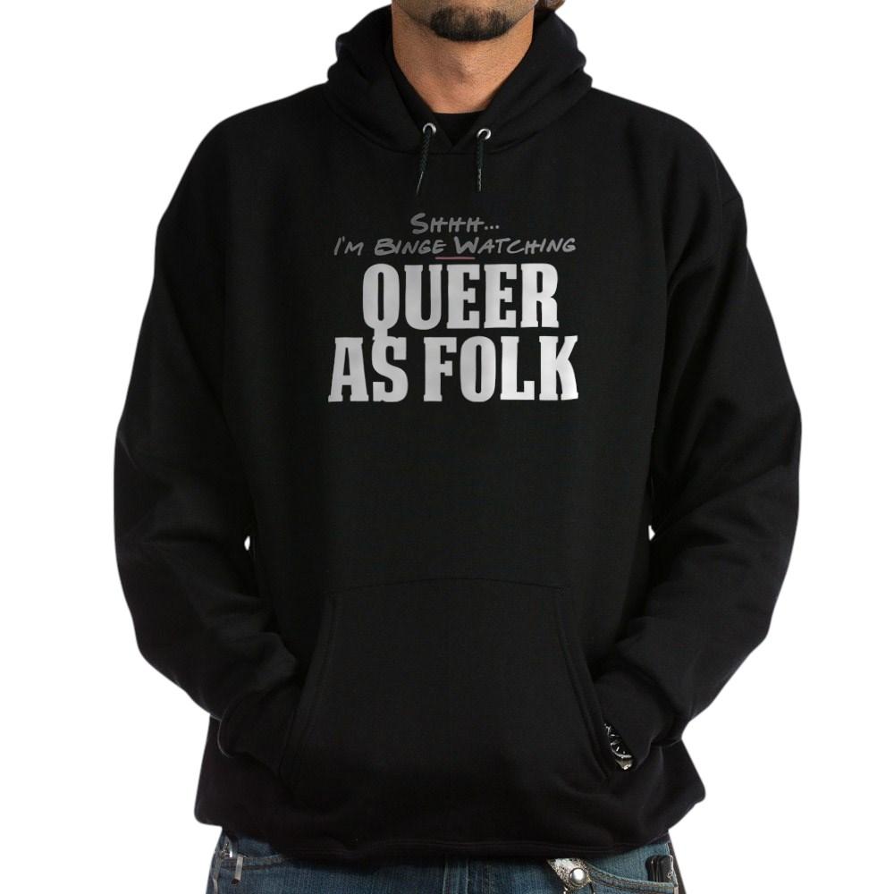 Shhh... I'm Binge Watching Queer as Folk  Dark Hoodie