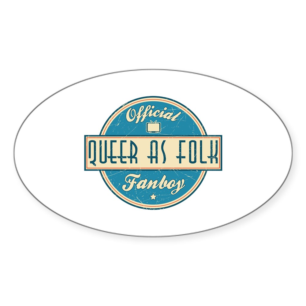 Offical Queer as Folk  Fanboy Oval Sticker