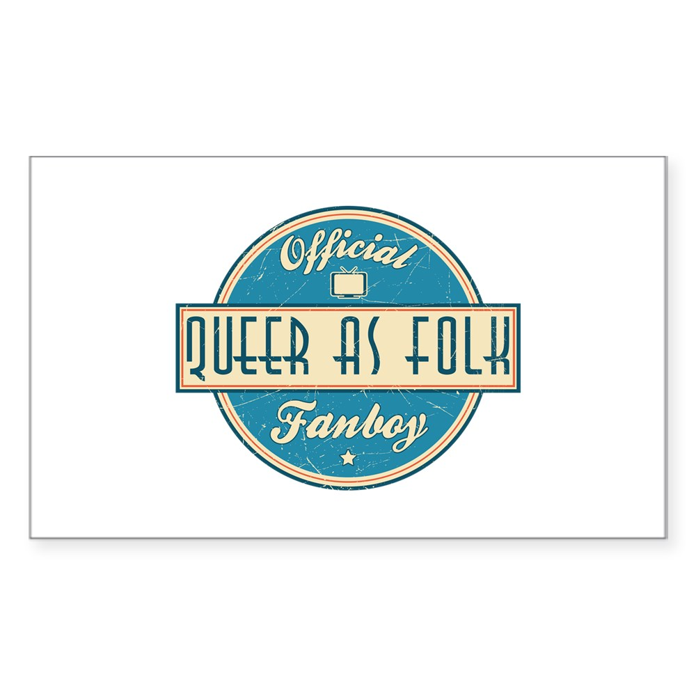 Offical Queer as Folk  Fanboy Rectangle Sticker