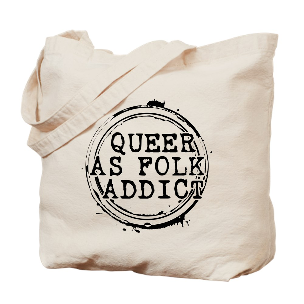 Queer as Folk  Addict Stamp Tote Bag