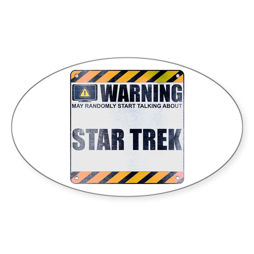 Warning: Star Trek Oval Sticker