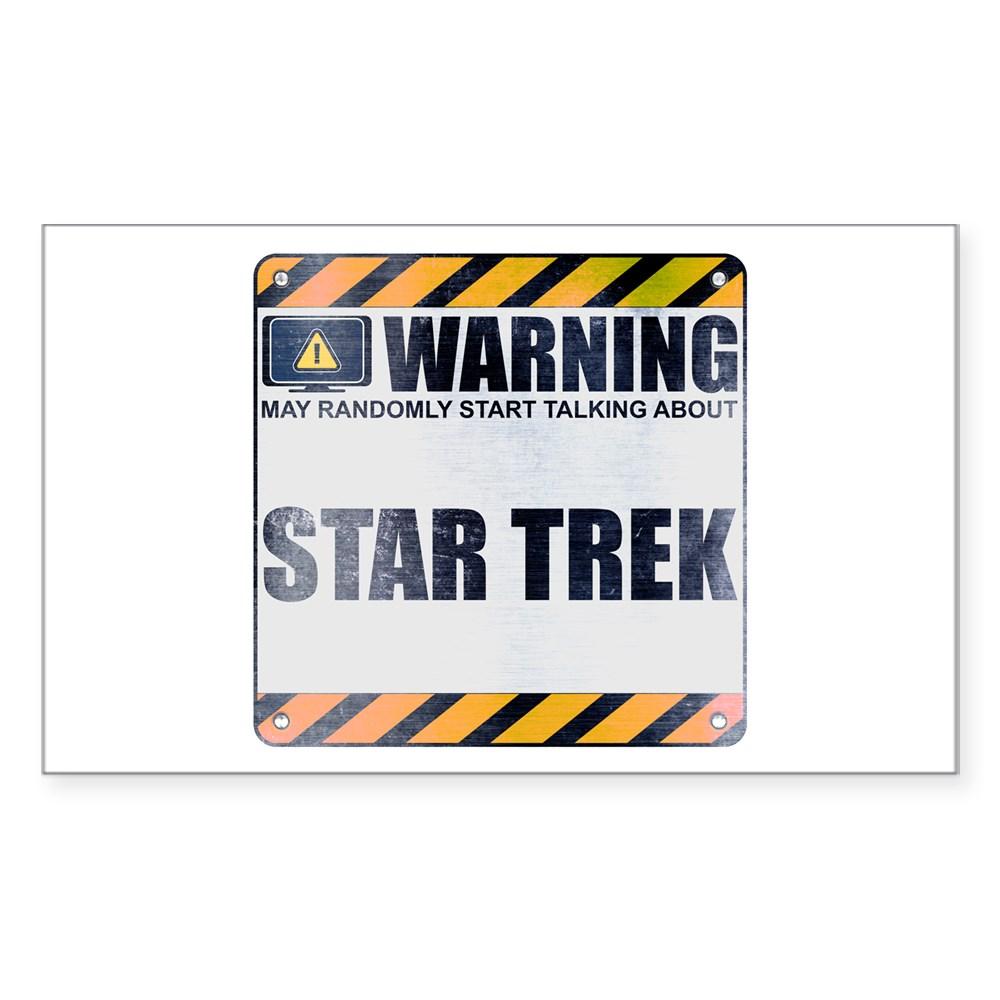 Warning: Star Trek Rectangle Sticker