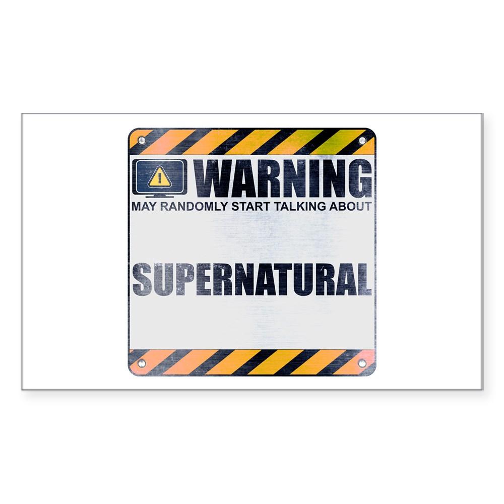 Warning: Supernatural Rectangle Sticker