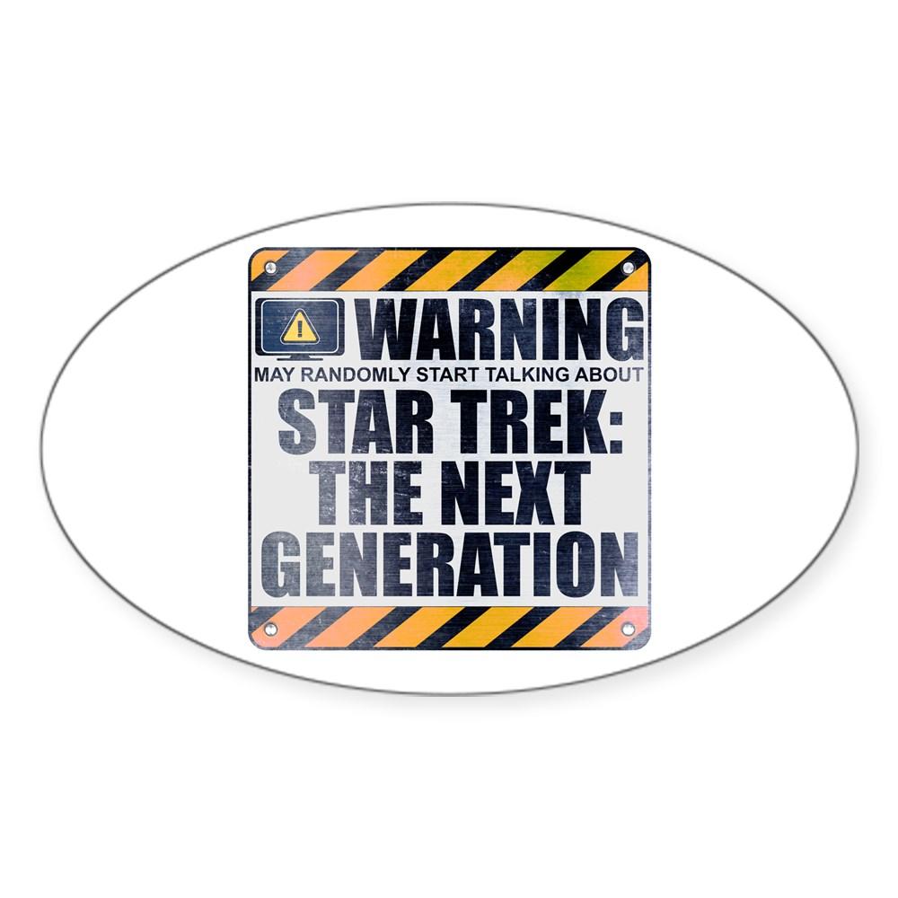 Warning: Star Trek: The Next Generation Oval Sticker