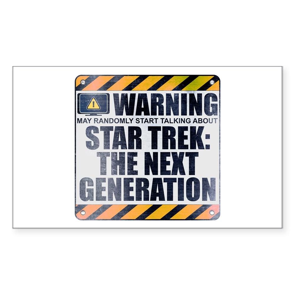 Warning: Star Trek: The Next Generation Rectangle Sticker
