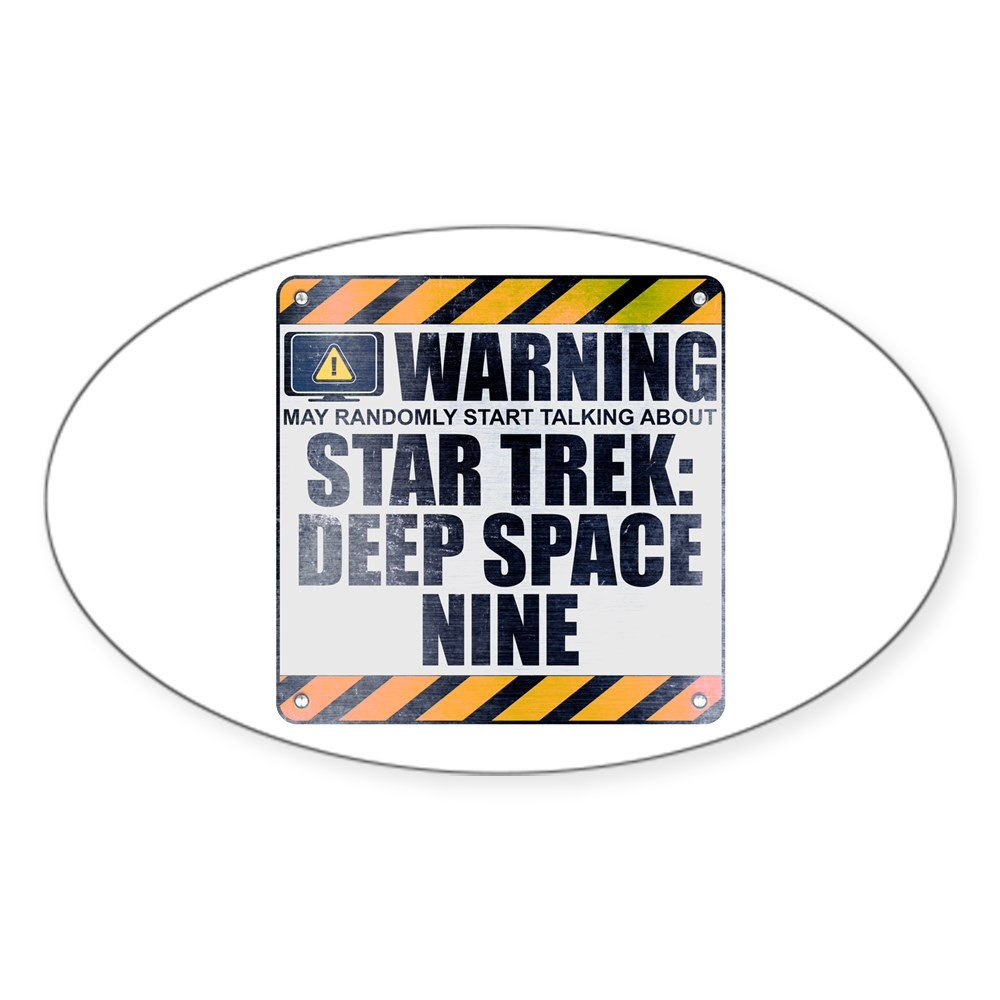 Warning: Star Trek: Deep Space Nine Oval Sticker