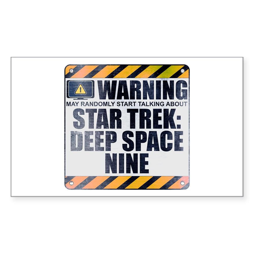 Warning: Star Trek: Deep Space Nine Rectangle Sticker
