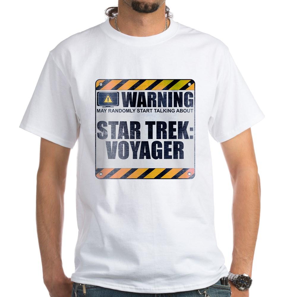 Warning: Star Trek: Voyager White T-Shirt