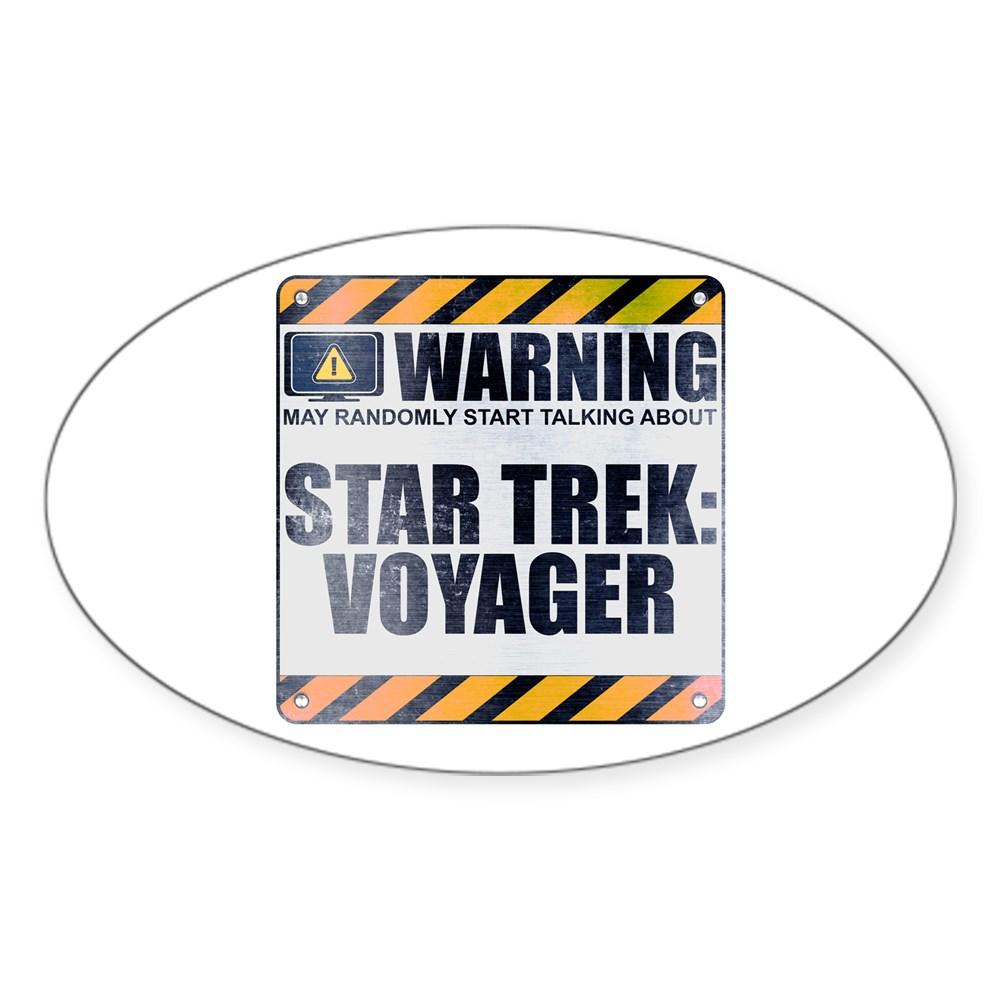 Warning: Star Trek: Voyager Oval Sticker