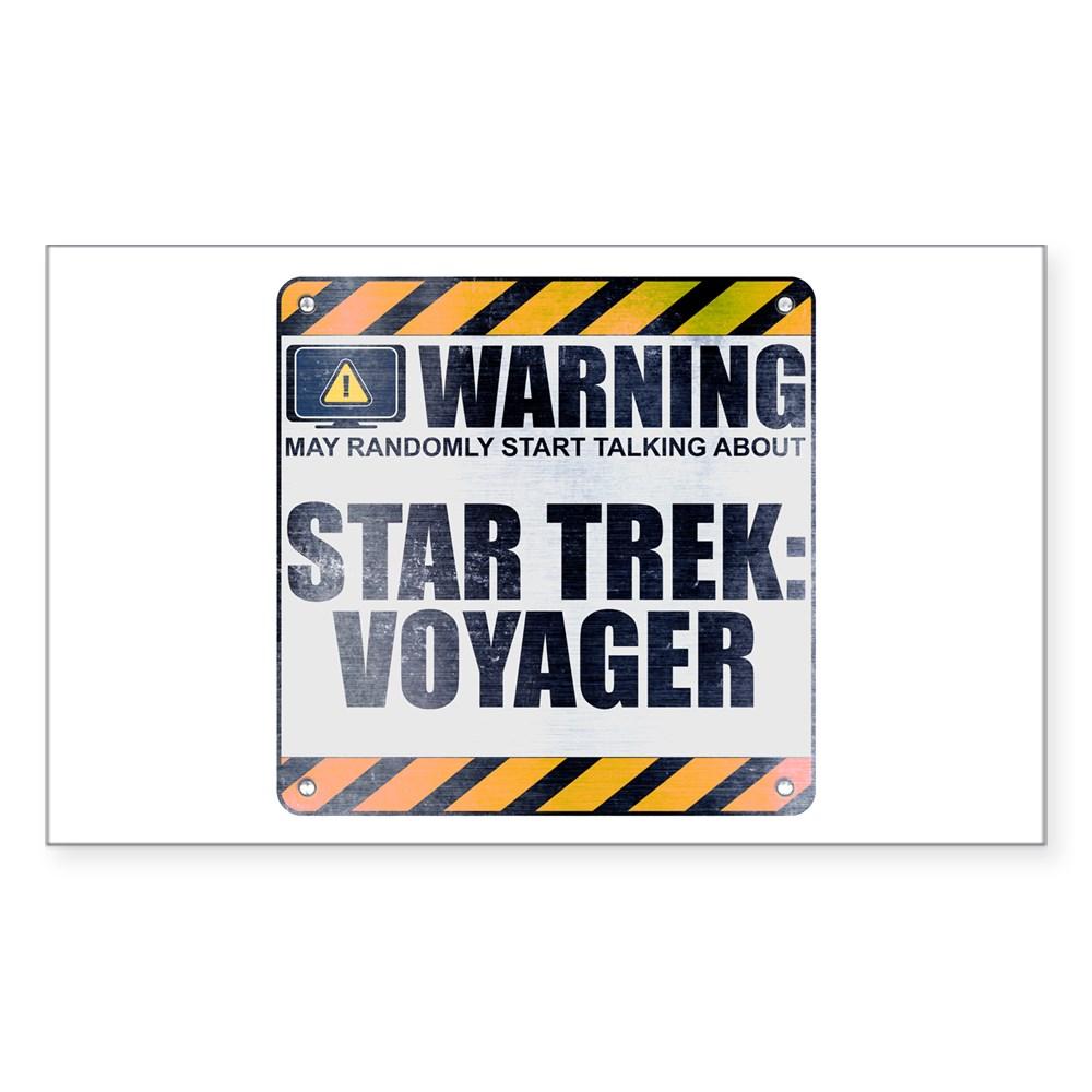 Warning: Star Trek: Voyager Rectangle Sticker