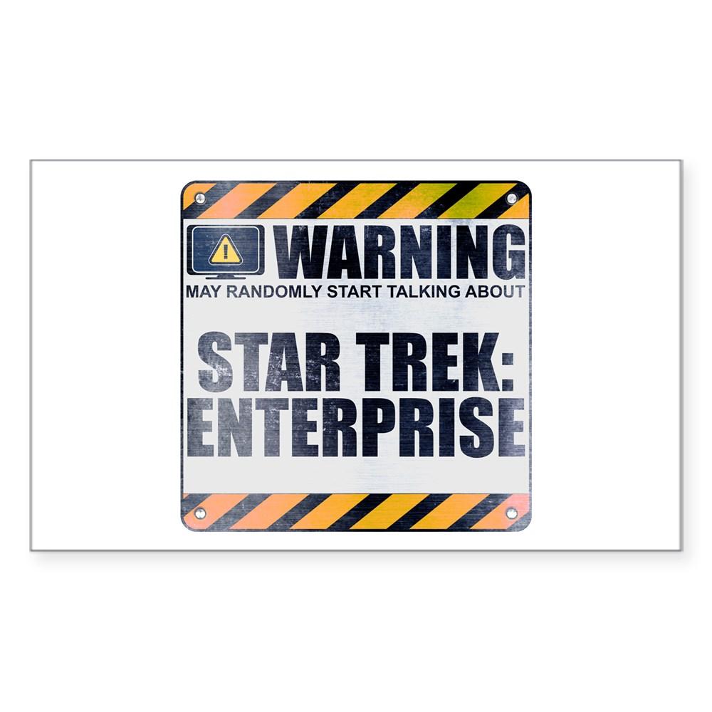 Warning: Star Trek: Enterprise Rectangle Sticker