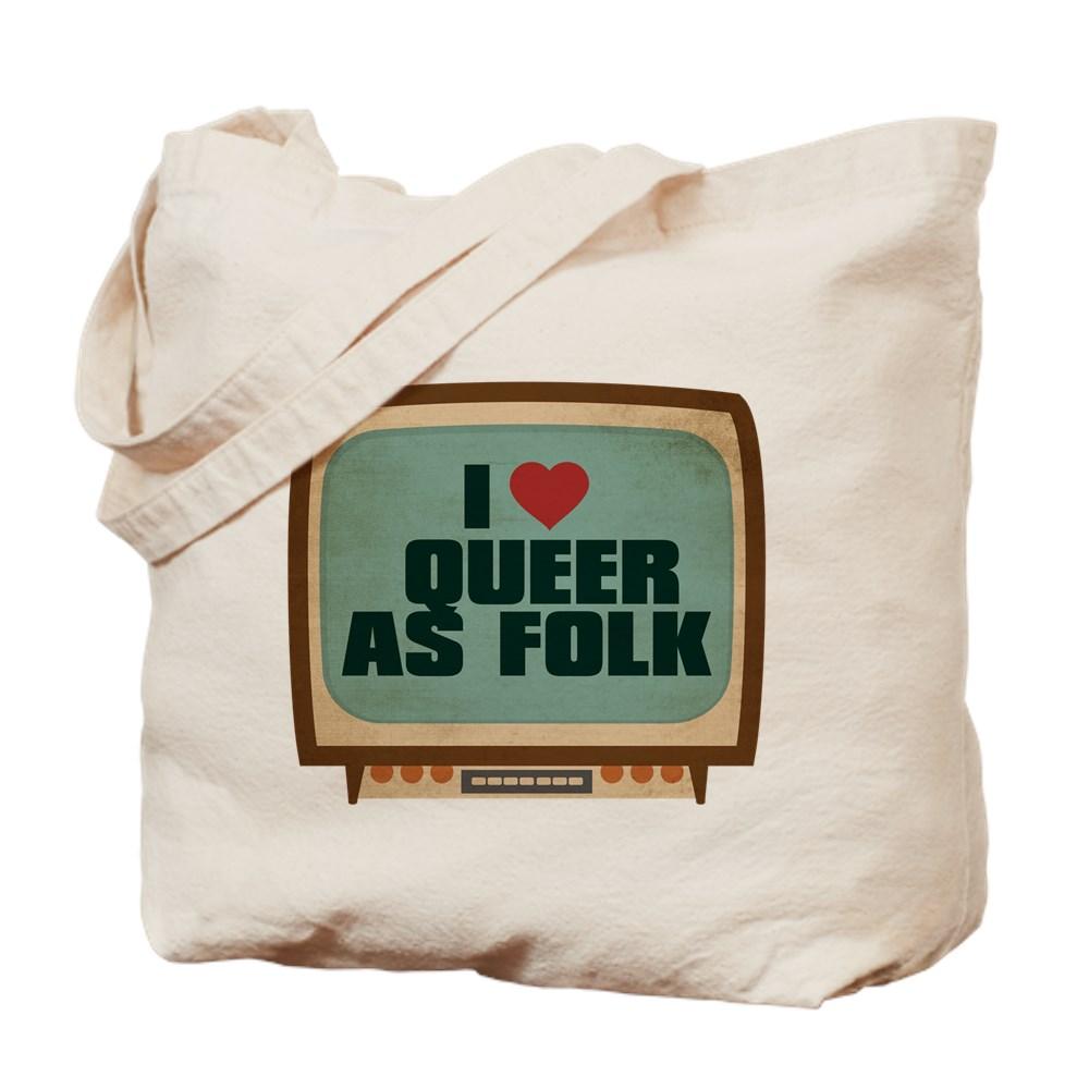 Retro I Heart Queer as Folk  Tote Bag
