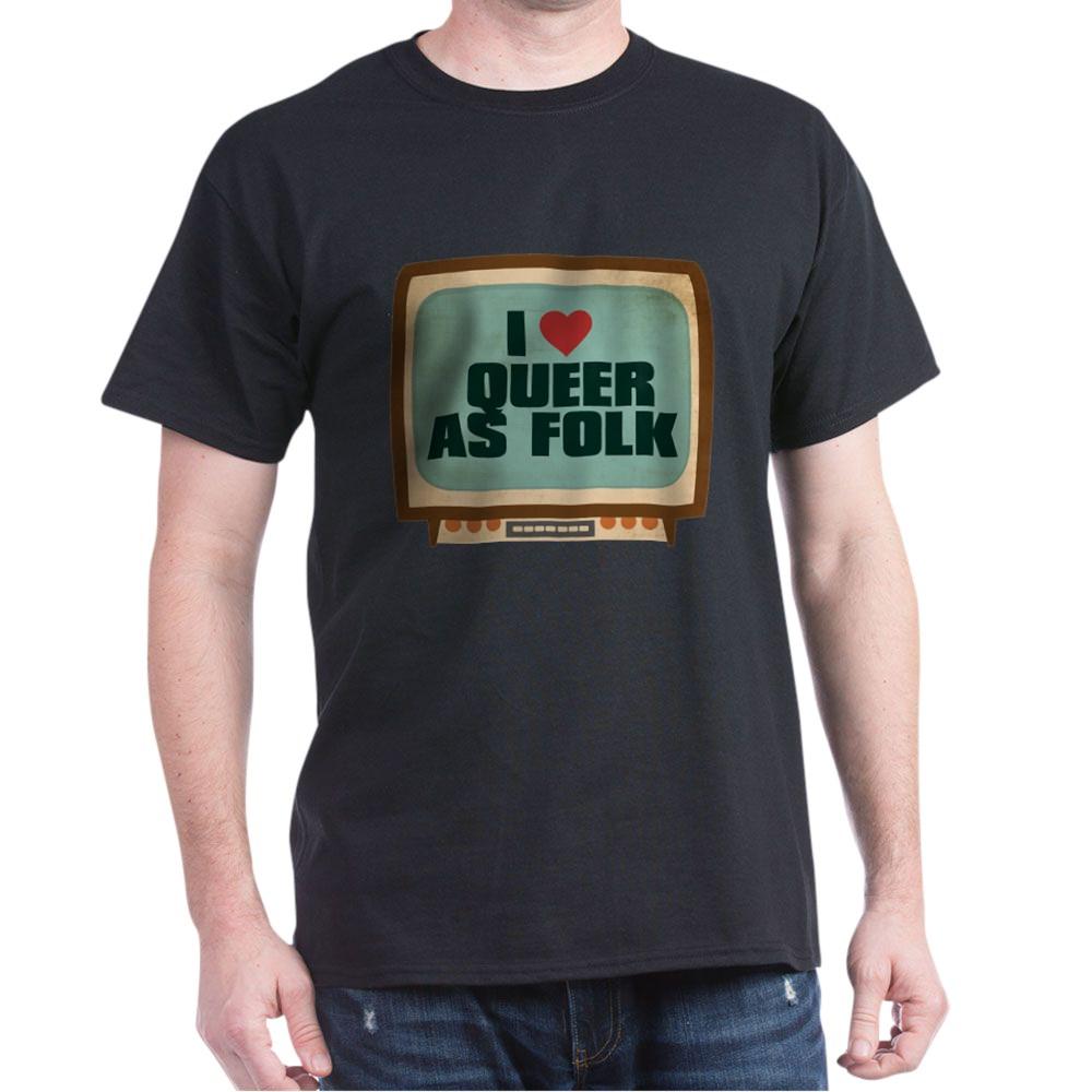 Retro I Heart Queer as Folk  Dark T-Shirt