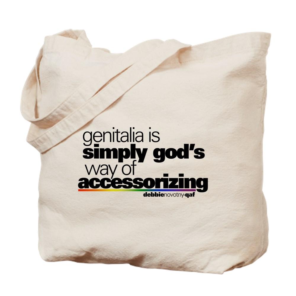 Genitalia Quote Tote Bag